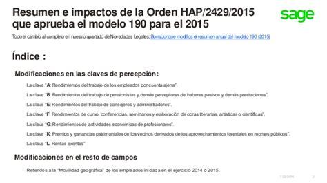 Resumen Anual In by Borrador Que Modifica Resumen Anual Modelo 190 2015