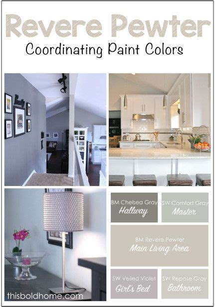 how to coordinate colors in a bedroom benjamin revere pewter and coordinating paint