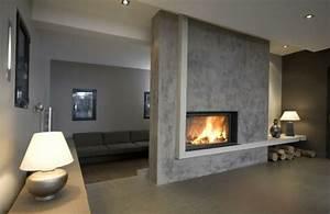Cheminée Bois Design : cheminee centrale fermee ~ Premium-room.com Idées de Décoration