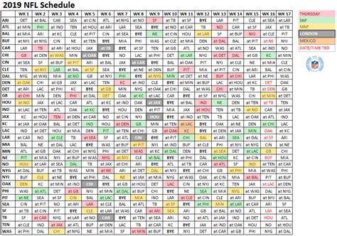 nfl  schedule leak megathread nfl