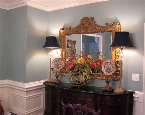 Benjamin Moore Stratton Blue Dining Room