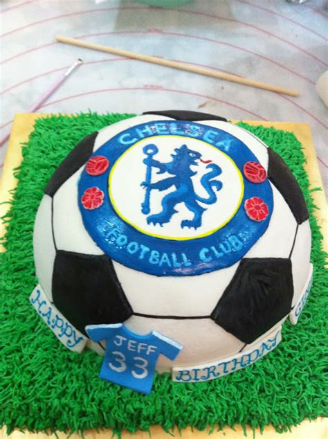 Home May'de Cakes The Making Of  Chelsea Soccer Cake