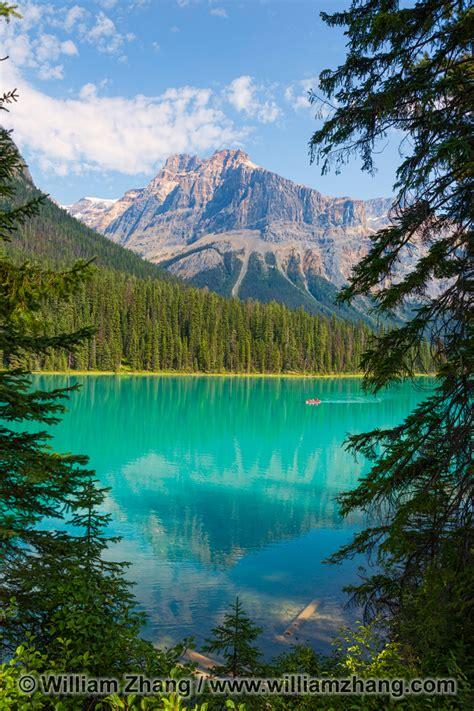 clear green waters  emerald lake  yoho national park bc