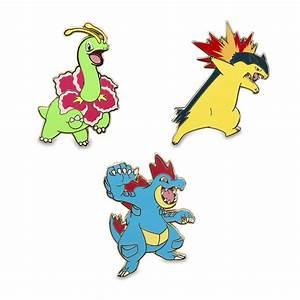 Meganium Typhlosion Feraligatr Pokémon Pins Johto