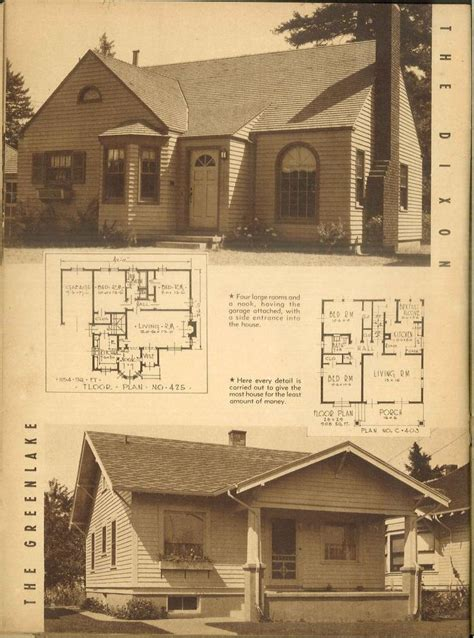 cottage plans 1940s attractive homes 62 homes with plans vintage
