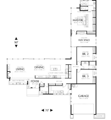 simple l shaped ranch style homes placement 25 best ideas about mid century ranch on