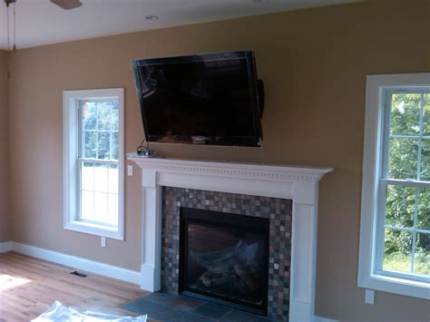 Stonington Ct Tv Over Fireplace On Articulating Mount