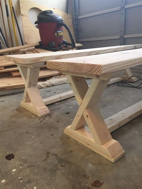 diy  brace bench  easy plans furniture