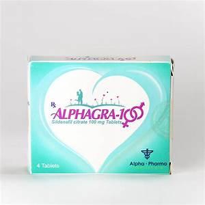 Alphagra 100 Sildenafil 100mg 10tabs X 10 Strips   B - Alpha Pharma