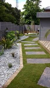 entree maison jardin paysager gazon pas japonais With amenager une terrasse exterieure 10 le jardin paysager tendance moderne de jardinage