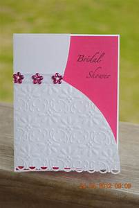 Handcrafted embossed bridal shower card invitation for Images of wedding shower cards