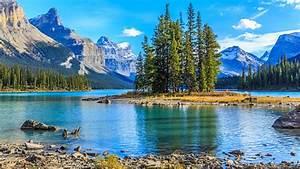 Maligne Lake Jasper National Park Wallpaper Hd