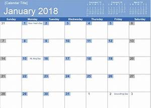 best free 2018 new year calendar for excel word ms With office com calendar templates