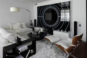Deco Salon Blanc Et Gris : chambre noire et blanche signification des couleurs et ~ Zukunftsfamilie.com Idées de Décoration