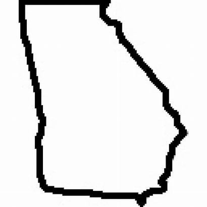 Georgia Outline State Map Ga Clipart Teacher