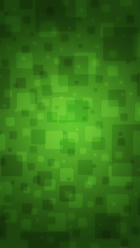 abstract green blocks android wallpaper