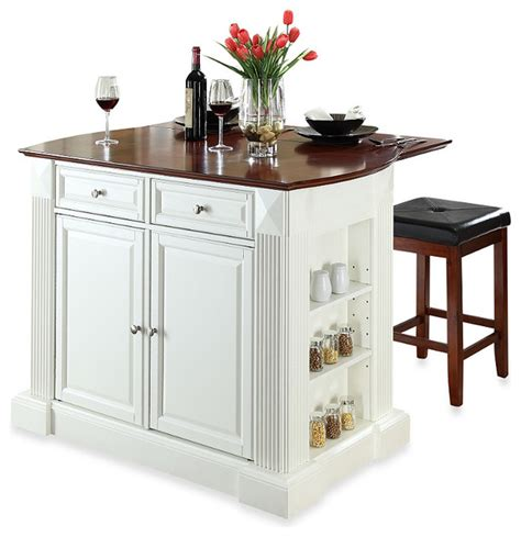 kitchen island cart with breakfast bar crosley drop leaf breakfast bar top kitchen island with cherry square seat stool contemporary