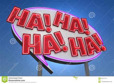 Ha! Ha! Ha! Ha! Sound Effect Neon Sign Stock Illustration