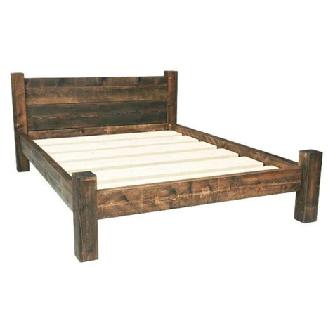 furniture rustic bed  wooden beds  pinterest