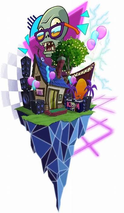 Mixtape Neon Tour Zombies Vs Wikia Plants