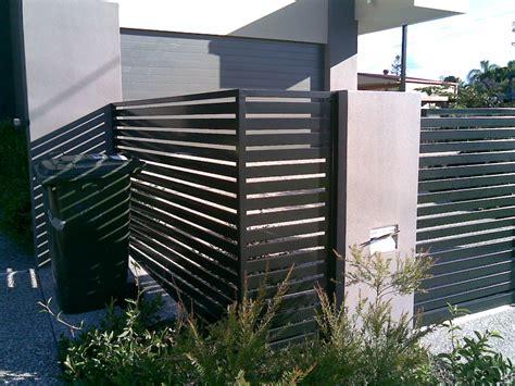 modern metal fence design horizontal slatted fence landscaping pinterest fences gates and decking