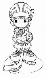 Coloring Precious Moments Hockey Colorear Dibujos Momentos Printable Dessin Preciosos Winter Coloriage Jugador Enfant Sheets Player Drawing Dibujo Hielo Sobre sketch template