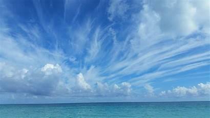 Sky Clouds Awan Laut Biru Gambar Pemandangan