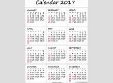 Australian 2017 calendar printable Free Printable PDF