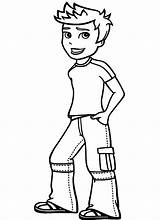 Coloring Boy Pages sketch template