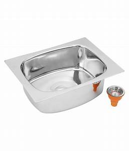Buy Patel Stainless Steel Single Bowl Sink Without ...
