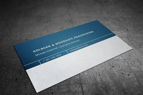 corporate engineering business card sponsored company