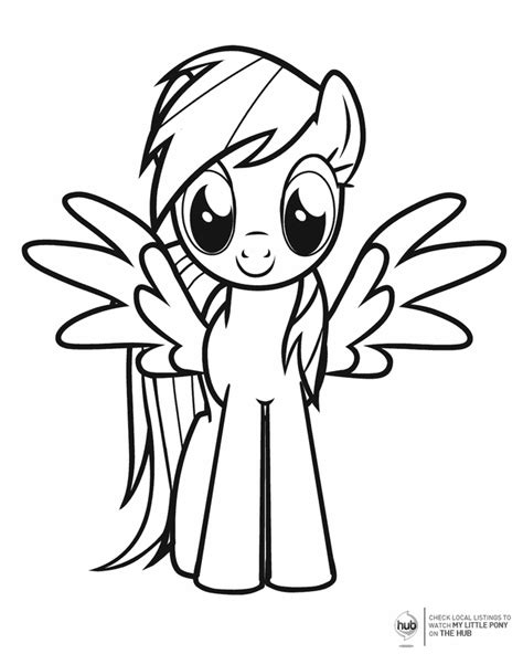 pony  wings  printable coloring pages