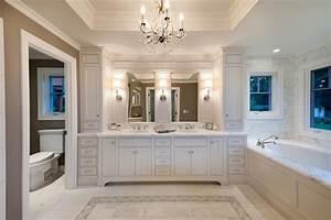 Master bath in white traditional bathroom san for Master bathroom ideas houzz