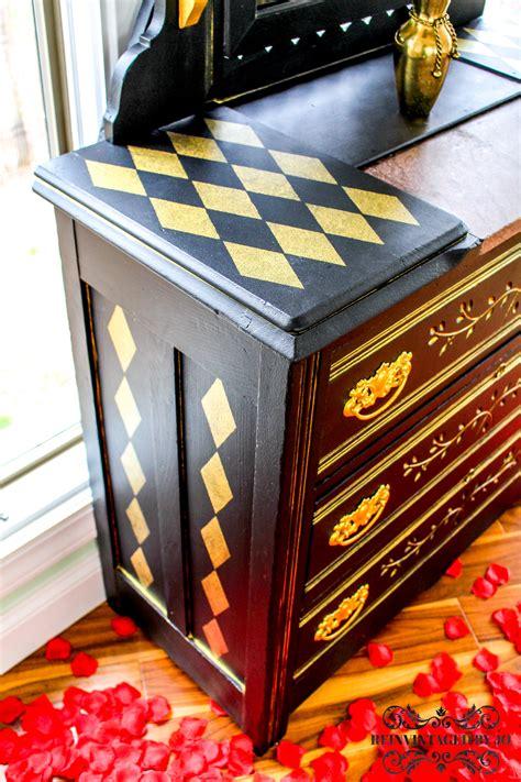 stark black  shimmering gold eastlake dresser general