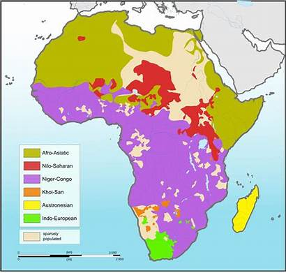 Africa Languages Wikipedia Map
