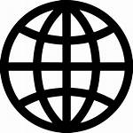 Icon Internet Globe Map Connected Worldwide Svg