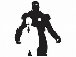 Iron Man - Tony Stark - Silhouette 2 - Vinyl Decal - SUP ...