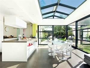 quand la veranda abrite une cuisine With awesome puit de lumiere maison 18 salle de bain idees