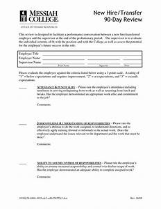best photos of end of employment letter template With 90 day review template