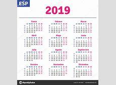 Espanhol calendário 2019 — Vetor de Stock © rustamank