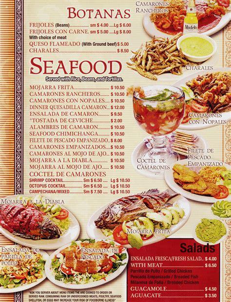 cuisine restaurant food menu menu principal comida taqueria nuestra