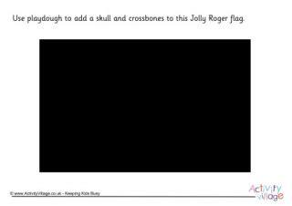 jolly roger doormat pirate playdough mats