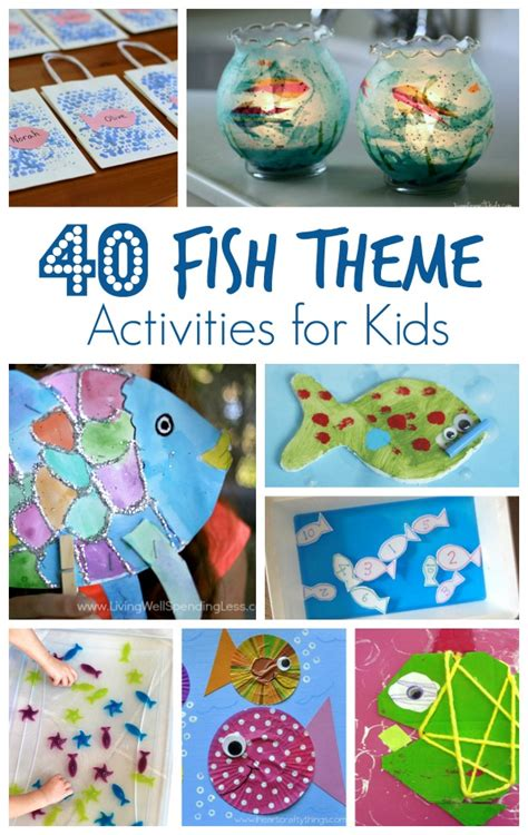 40 fish theme activities for fantastic amp learning 915 | 40 Fish Theme Activities for Kids...great for preschoolers and kindergarteners