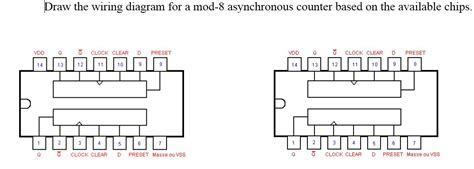 Homework Wiring Diagram by Draw The Wiring Diagram For A Mod 8 Asynchronous