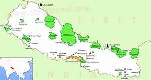 Tibet Nepal Map, Lhasa to Kathmandu Map, Tibet Nepal ...
