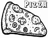 Pizza Coloring Slice sketch template