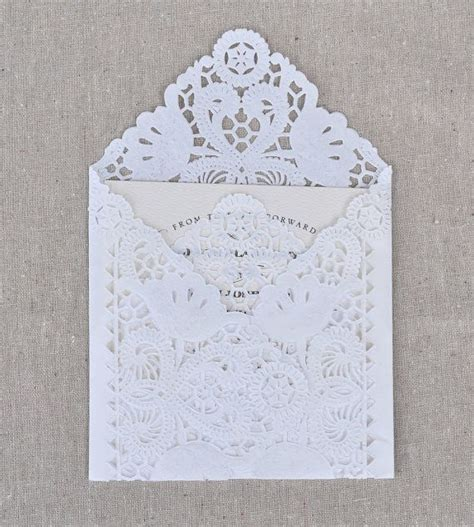 diy lace envelope kit wedding invitation envelope liners