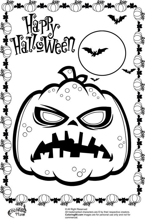 halloween pumpkins coloring pages getcoloringpagescom