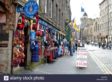 Tartan Gift Shop Royal Mile Edinburgh Stock Photo, Royalty Free Image Gifts For 2 Year Olds That Are Not Toys Gag Gift Christmas Ideas Dad's Girlfriend Music Lover Dad Headphones Bag Plastic Best Rated 5 Jesus