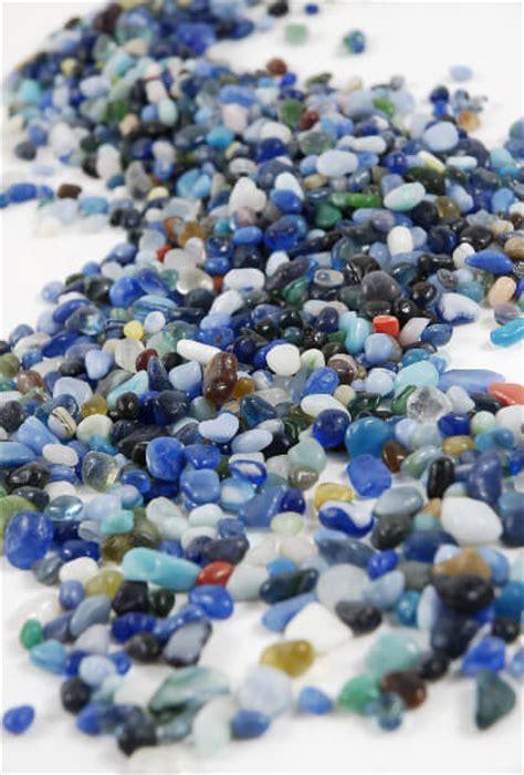 ocean blue glass pebbles  oz